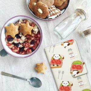 iPhone手帳型ケース「パンダぱんだパントーストベーコンレタス白黒食パン動物かわいいキャラクター」写真