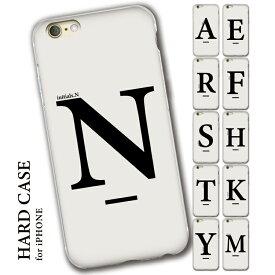 iPhoneSE iPhone8 iPhone12 iPhone7 iPhoneXR ハードケース iPhoneケース 第2世代 iPhone 12 11 12mini X 6 8plus XS 11pro 7plus max アイフォンケース アイフォンse モノクロ 北欧 イニシャル アルファベット シンプル