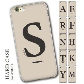 iPhoneSE iPhone8 iPhone12 iPhone7 iPhoneXR ハードケース iPhoneケース 第2世代 iPhone 12 11 12mini X 6 8plus XS 11pro 7plus max アイフォンケース アイフォンse ベージュ ホワイト くすみ 北欧 イニシャル アルファベット 秋