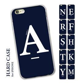 iPhoneSE iPhone8 iPhone12 iPhone7 iPhoneXR ハードケース iPhoneケース 第2世代 iPhone 12 11 12mini X 6 8plus XS 11pro 7plus max アイフォンケース アイフォンse ネイビー 紺 青 北欧 イニシャル アルファベット シンプル