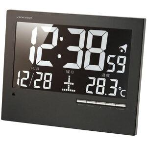 掛け時計 ウォール電波クロック 電波時計 シンプル デジタル 温度表示 置き時計 置時計 置き掛け兼用 目覚まし アラーム スヌーズ ライト LED 開業祝い オフィス 会社 ライト 夜見える (AD-AK-62