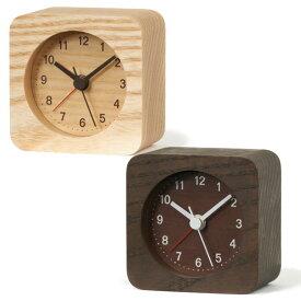 Lemnos レムノス 木製 置き時計 目覚し時計 ステップムーブメント 「レスト」 (LA13-13)*ブラウンBW廃盤