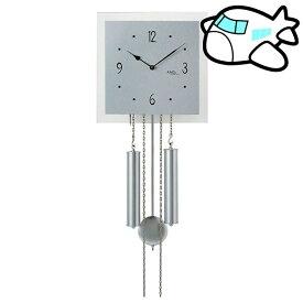 【ポイントアップ中&割引クーポン配布中】AMS 掛け時計 機械式 アナログ シルバー ドイツ製 AMS354 納期1ヶ月程度 (YM-AMS354)
