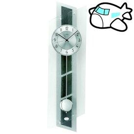 【ポイントアップ中&割引クーポン配布中】AMS 掛け時計 振り子時計 アナログ シルバー ドイツ製 AMS5217 納期1ヶ月程度 (YM-AMS5217)