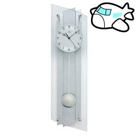 【ポイントアップ中&割引クーポン配布中】AMS 掛け時計 振り子時計 アナログ シルバー ドイツ製 AMS5261 納期1ヶ月程度 (YM-AMS5261)