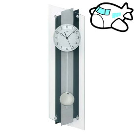 【ポイントアップ中&割引クーポン配布中】AMS 掛け時計 振り子時計 アナログ ブラック ドイツ製 AMS5262 納期1ヶ月程度 (YM-AMS5262)