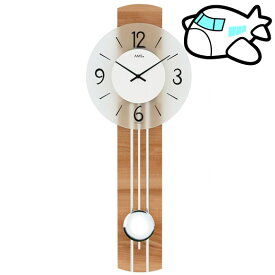 【ポイントアップ中&割引クーポン配布中】AMS 掛け時計 振り子時計 シンプル 木製 ドイツ製 AMS7263 納期1ヶ月程度 (YM-AMS7263)