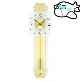 【ポイントアップ中&割引クーポン配布中】AMS 掛け時計 振り子時計 アナログ ゴールド ドイツ製 AMS7301 納期1ヶ月程度 (YM-AMS7301)