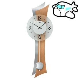 【ポイントアップ中&割引クーポン配布中】AMS 掛け時計 振り子時計 アナログ シルバー ドイツ製 AMS7425 納期1ヶ月程度 (YM-AMS7425)