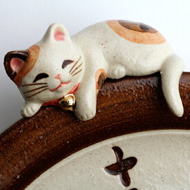 【ポイントアップ中&割引クーポン配布中】振り子時計 アナログ 招き猫 陶器 掛け時計 日本製 和風 「福々招き猫」 (CY-Y9771)