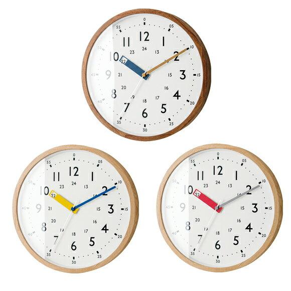 掛け時計 電波時計 知育 北欧 木製 ステップムーブメント アナログ ストゥールマン (IF-CL2937)*ブルー10月末入荷予定
