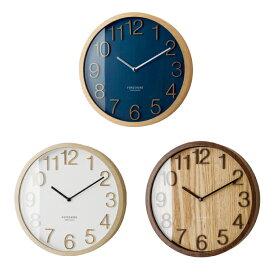 【ポイントアップ中&割引クーポン配布中】掛け時計 電波時計 木製 ステップムーブメント プロック (IF-CL2940) *ホワイトWH10月初旬・ネイビーNV10月末入荷予定