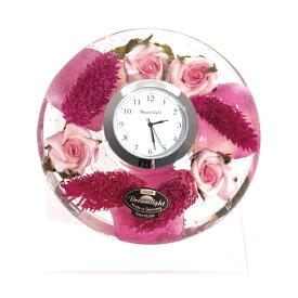 【ポイントアップ中&割引クーポン配布中】置き時計 ドイツ製 花のガラス時計 ギフト 贈り物 CDD7227 バラ (IK-CDD7227)