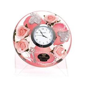 【ポイントアップ中&割引クーポン配布中】置き時計 ドイツ製 花のガラス時計 ギフト 贈り物 CDD7264 バラ (IK-CDD7264)