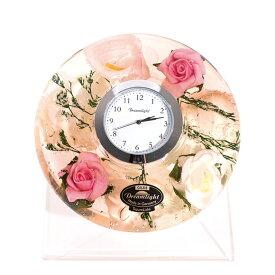 【ポイントアップ中&割引クーポン配布中】置き時計 ドイツ製 花のガラス時計 ギフト 贈り物 CDD7268 ローズ (IK-CDD7268)