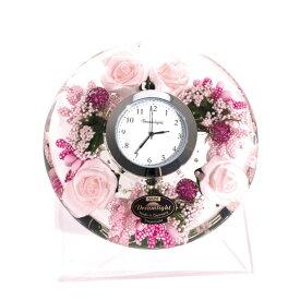 【ポイントアップ中&割引クーポン配布中】置き時計 ドイツ製 花のガラス時計 ギフト 贈り物 CDD7297 バラ (IK-CDD7297)