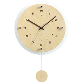【ポイントアップ中&割引クーポン配布中】掛け時計 振り子時計 木製 電波時計 ナチュラル おしゃれ エレガント アンティール (NA-W-473-)