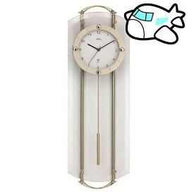 【ポイントアップ中&割引クーポン配布中】AMS 掛け時計 振り子時計 アナログ シルバー ドイツ製 AMS5265 納期1ヶ月程度 (YM-AMS5265)