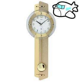 AMS 掛け時計 振り子時計 アナログ ゴールド ドイツ製 AMS5267 納期1ヶ月程度 (YM-AMS5267)