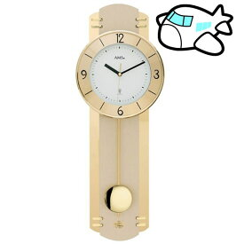 AMS 掛け時計 振り子時計 アナログ ゴールド ドイツ製 AMS5293 納期1ヶ月程度 (YM-AMS5293)
