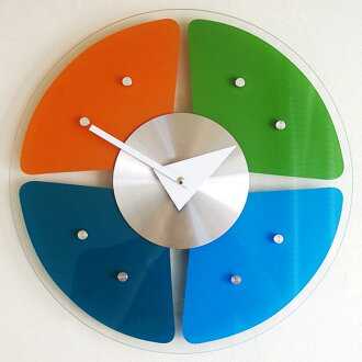 """George Nelson wall clock """"glass spectrum"""" (KC-GN13398) (検) 