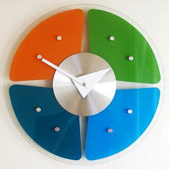 조지・넬슨 벽시계 「글라스・스펙트럼」(KC-GN13398) (검)|시계|벽시계|괘종시계|내기 시계|목제*입하 미정