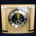 【ポイントアップ中&割引クーポン配布中】置き時計 置時計 木製 高級 シック 人気 リビング デスク 寝室 居間 新築祝…