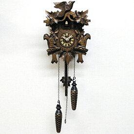 掛け時計 時計 振り子 からくり 鳩時計 ハト はと カッコー 時報 ドイツ 木製 天然 木 無垢 引越し ハンドメイド森の時計 木製 からくり 622QM