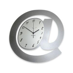 掛け時計 時計 掛時計 大型 メタル 銀 シルバー イタリア デザイン リビング オフィス 店舗 会社 ロビー 送料無料 開店 開業 ギフト 贈り物 贈答品 プレゼント (CEA-FE0117-5) 【10P01Oct16】
