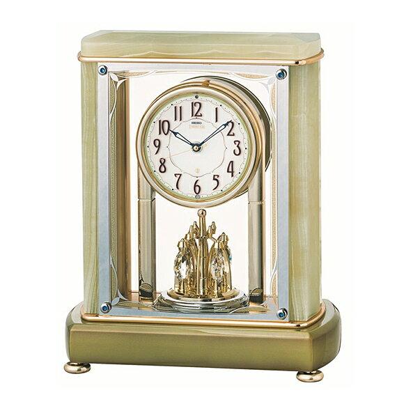 SEIKO( SEIKO) EMBLEM Table Clock Onyx Frame HW578M