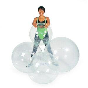ギムニク バランスボール オプティボール65 65cm 透明 クリア (GY96-65) エクササイズ ヨガ ボール ピラティス