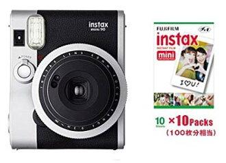 FUJIFILM インスタントカメラチェキ INS MINI 90 neo-classic & チェキフィルム 100 pieces set