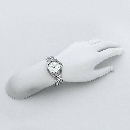 【送料無料】GUCCIグッチYA126533シルバー/ホワイト[クォーツ腕時計レディースウオッチ]