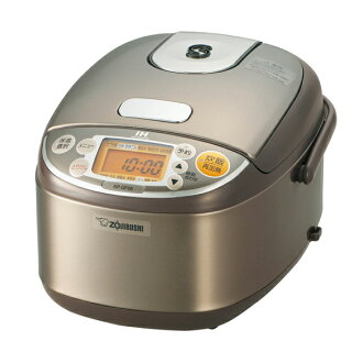 Zojirushi NP-GF05-XJ [I cook IH rice cooker (3 go, and be full of) stainless steel brown and cook it]