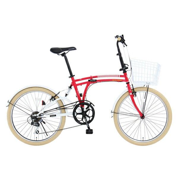 【送料無料】DOPPELGANGER m6-24-RD Poppy red Mobility Six [24インチ折りたたみ自転車]【同梱配送不可】【代引き不可】【沖縄・北海道・離島配送不可】