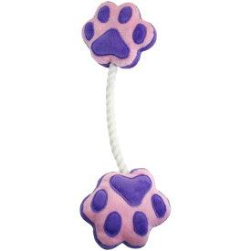 ペットプロ ペットプロ 足型ひっぱりロープ 紫 [犬のおもちゃ]