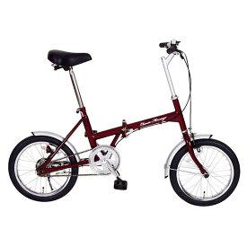 【送料無料】ミムゴ MG-CM16 クラシックレッド Classic Mimugo [折りたたみ自転車(16インチ)] 【同梱配送不可】【代引き・後払い決済不可】【沖縄・北海道・離島配送不可】