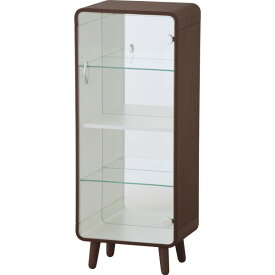 コレクションシェルフ コレクションケース おしゃれ ガラス 木製 鏡付き アクセサリー ブラウン Lサイズ 東谷 PT-612BR