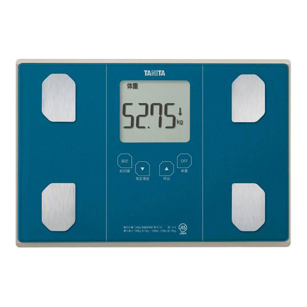 【送料無料】タニタ 体重計 BC-314-BL メタリックブルー TANITA BC314 体組成計 体脂肪計 ギフトに最適 健康 ダイエット 測定 計測 肥満 予防 測定継続