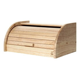 ブレッドケース パン保存ケース ナチュラル 木製 収納 ダイニング ラバーウッド ボヌール 不二貿易 94381
