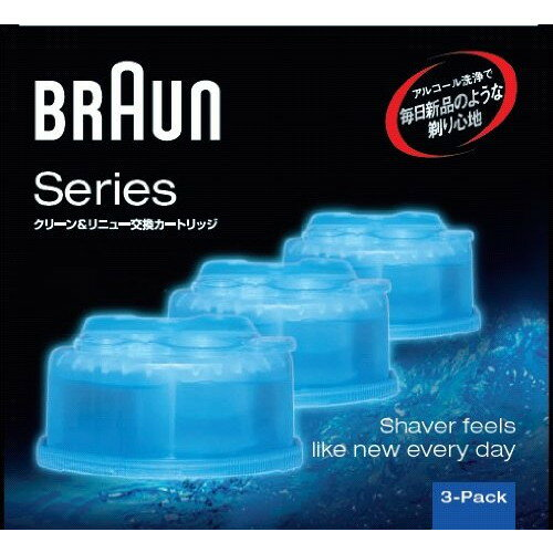 BRAUN CCR3CR [専用洗浄液 クリーン&リニューシステム専用洗浄液カートリッジ(3個入)]