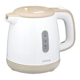 siroca (シロカ) SEK-208BE ベージュ siroca (シロカ) [電気ケトル 0.8L] お湯 こぼれにくい 湯こぼれ防止機能付き フタ着脱式