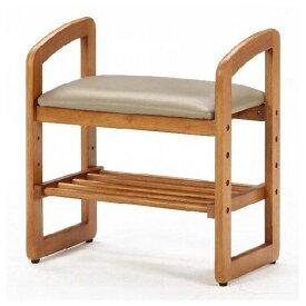 サポートチェア 椅子 いす スツール 木製 玄関 ベンチ 高さ調節 腰掛け 肘掛け シューズラック 【組み立て品】