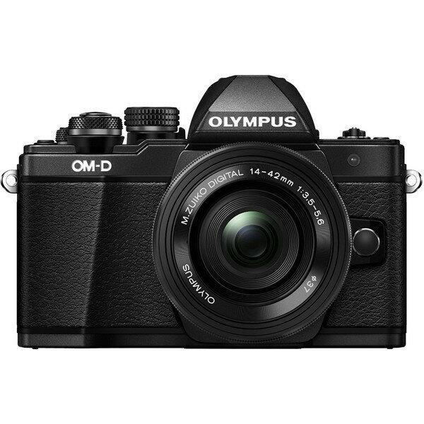 【送料無料】OLYMPUS(オリンパス) E-M10 MarkII ・14-42mm EZレンズキット ブラック [デジタル一眼カメラ (1605万画素)]