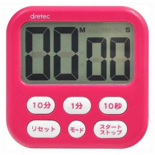 DRETEC T-542PK ピンク シャボン6 [大画面タイマー]