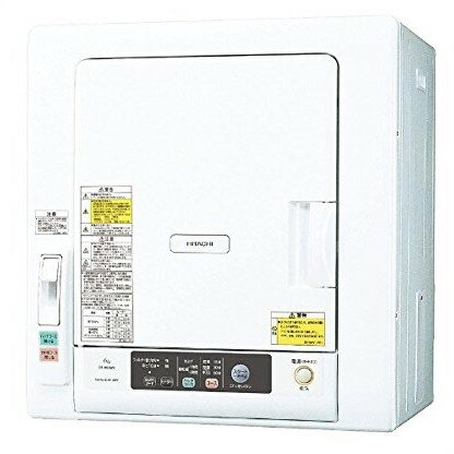 【送料無料】日立 DE-N60WV(W) ピュアホワイト [衣類乾燥機 (6kg)]