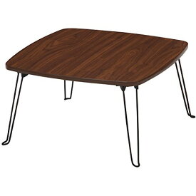 テーブル ローテーブル 折りたたみ 幅60cm 角 コンパクト シンプル ブラウン 茶 不二貿易 10860