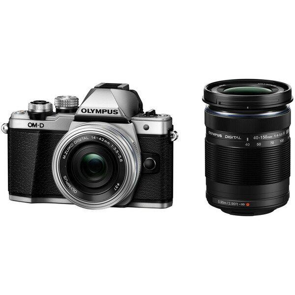 【送料無料】OLYMPUS(オリンパス) E-M10 MarkII EZダブルズームキット シルバー [デジタル一眼カメラ (1605万画素)]