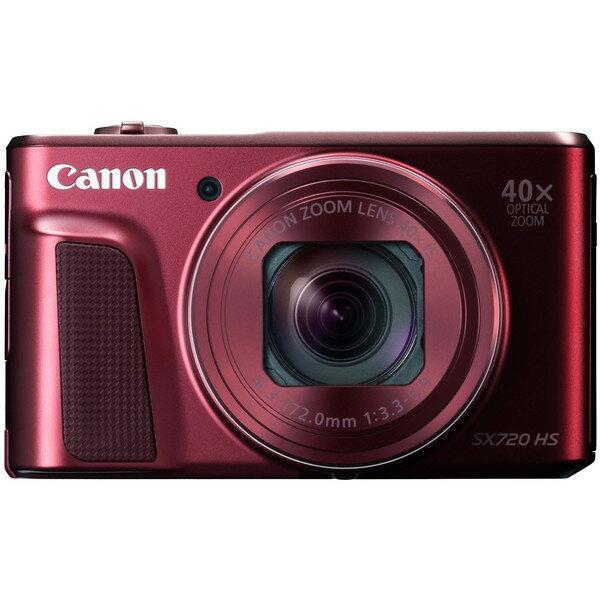 【送料無料】CANON PowerShot SX720 HS [レッド] PowerShot [コンパクトデジタルカメラ(約2,030万画素)]