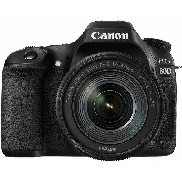 【送料無料】CANON EOS 80D EF-S18-135 IS USM レンズキット EOS [デジタル一眼カメラ(約2420万画素)]